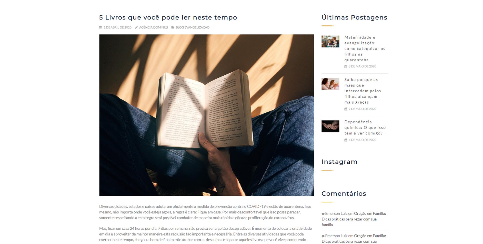 evangelização digital: blog posts